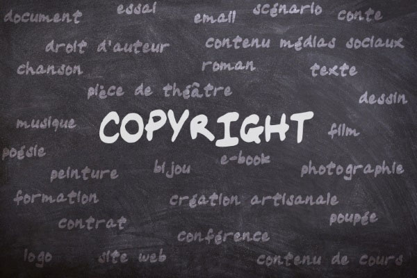 Les Catégories Pour Lesquelles Vous Pouvez Faire Un Copyright