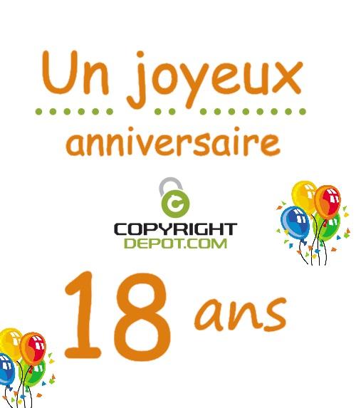 C Est Notre Anniversaire 18 Ans Copyrightdepot Com